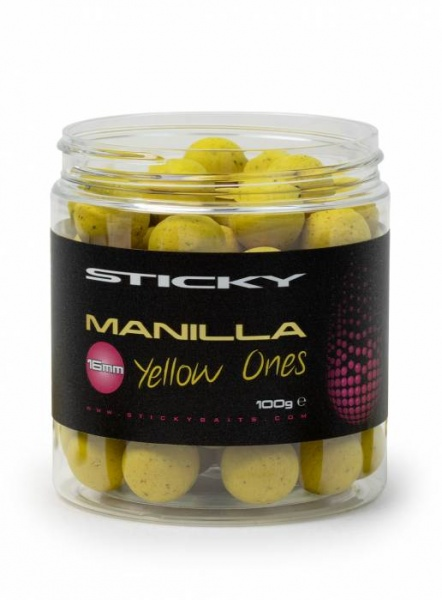Sticky Baits Manilla Yellow Ones 16mm Pop Ups