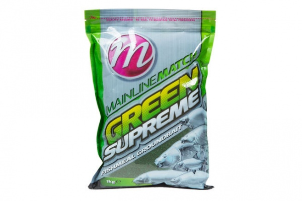 Mainline Green Supreme Groundbait 1Kg