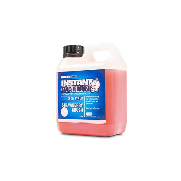 Nash Instant Action Strawberry Crush Spod Syrup 1ltr