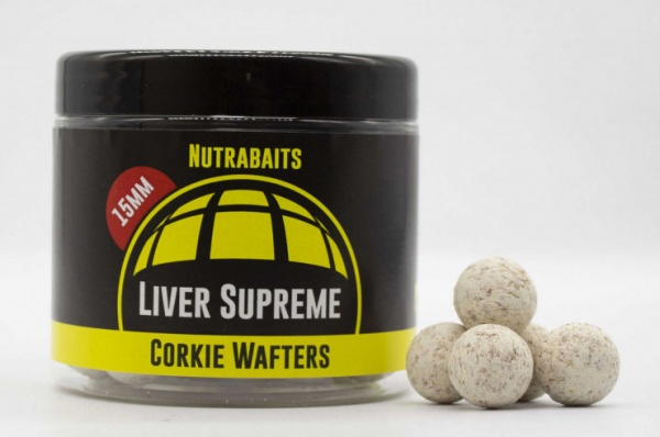 Nutrabaits Liver Supreme Corkie Wafters 15mm