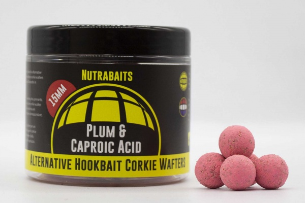 Nutrabaits Plum and Caproic Corkie Wafter 15mm