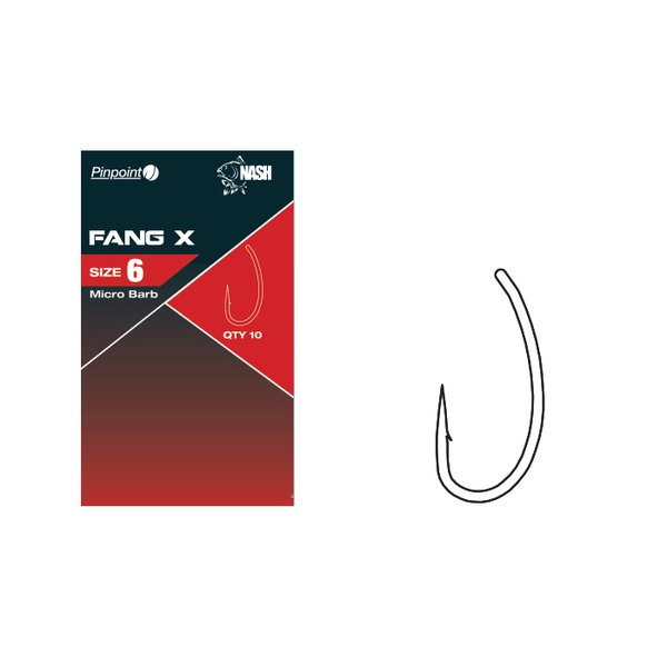 Nash Fang X Size 6 Micro Barbed Hooks