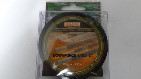 PB Products Downforce Tungsten Hooklink Weed 20lb  10m