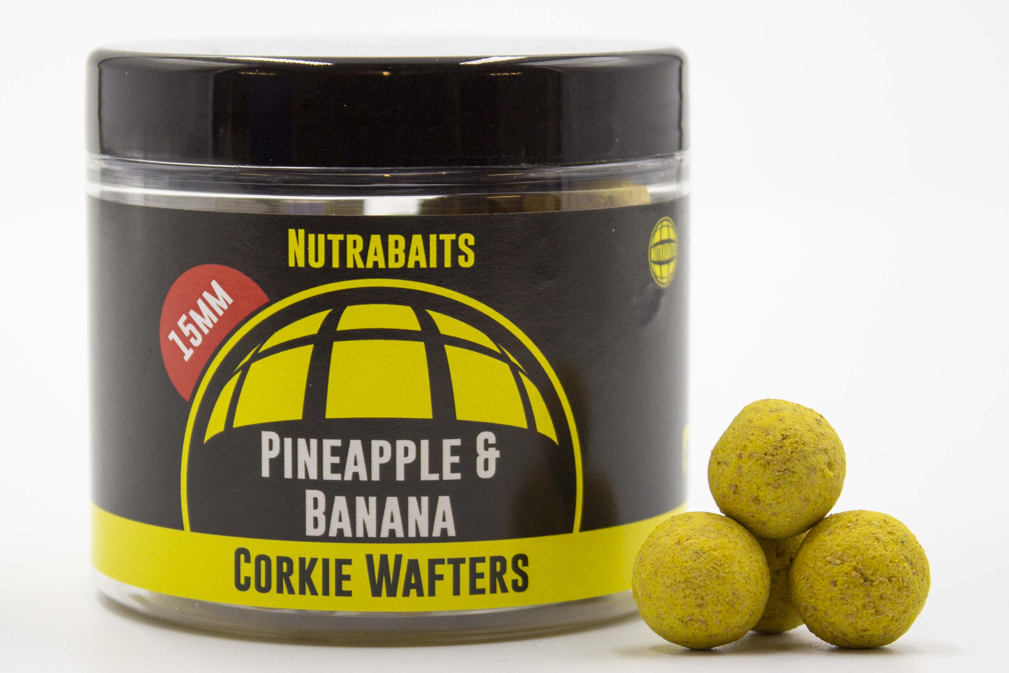Nutrabaits Pineapple and Banana Corkie Wafters 15mm